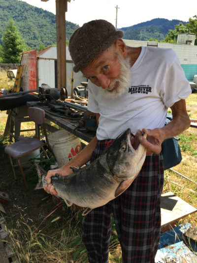 Rolf with fish